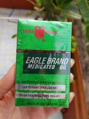 Combo 2 chai Dầu Gió Xanh 2 Nắp Mỹ (Eagle Brand Medicated Oil)
