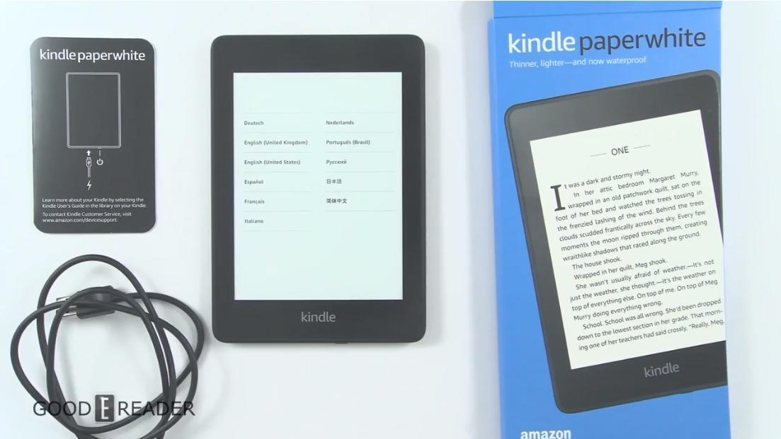 Máy đọc sách Kindle PaperWhite 2018 gen 4 (10th) 8Gb - Hàng nhập khẩu
