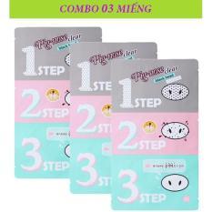 COMBO 3 Mặt Nạ Lột Mụn Đầu Đen 3 Bước Holika Holika Pig Nose Clear Black Head 3-Step Kit – 30ml