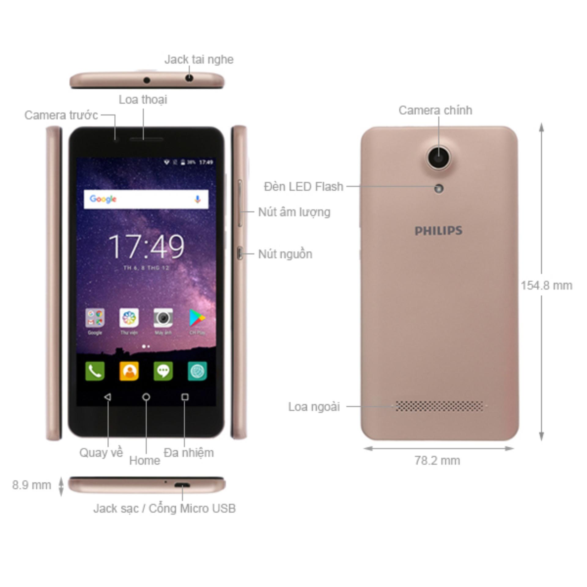 Điện thoại Philips S327 (gold)