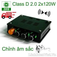 Mạch khuếch đại âm thanh classD 2.0 2x120W có chỉnh âm sắc
