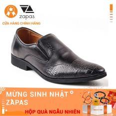 Giày Tây Công Sở Nam Da Bò Zapas Màu Đen – GF003