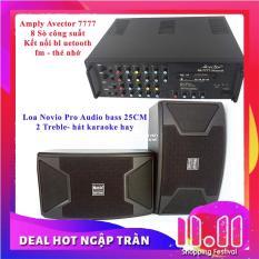 Dàn karaoke gia đình – Dàn karaoke bluetooth – Dàn karaoke giá rẻ Amply Avector 7777 Và Loa NOVIO PRO AUDIO 2.5 tấc Tặng 10 mét dây