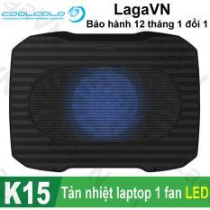 Đế tản nhiệt laptop COOLCOLD K15 1 quạt (Đen)
