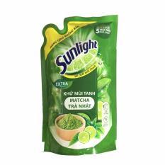 Combo 3 bịch Nước rửa chén Sunlight extra trà xanh Nhật Bản 550g (Hàng tặng) = 1.65kg