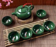 bộ ấm trà cá 3d