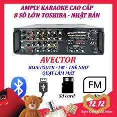 Amply karaoke ampli karaoke amply bluetooth nghe nhạc amply hat karaoke AVECTOR 8000