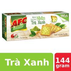 Bánh Cracker AFC Nhân Trà Xanh 144g (6 gói)