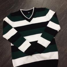 Áo len 1 sọc nam nữ thời trang phong cách PKSR (Xanh lục)