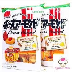 Bánh gạo phô mai hạnh nhân Sanko – Nhật Bản