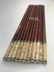 Bộ 10 đôi đũa ăn gỗ tự nhiên Cẩm Lai đầu cẩn trai (tròn)