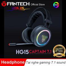 Tai nghe Gaming có dây âm thanh vòm 7.1 sound ( CAPTAIN 7.1 ) LED RGB Fantech HG15 – Hãng Phân Phối Chính Thức