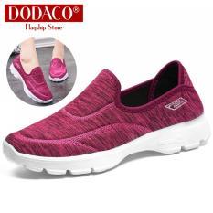 Giày lười nữ giày mọi nữ slip on DODACO DDC3223 B11