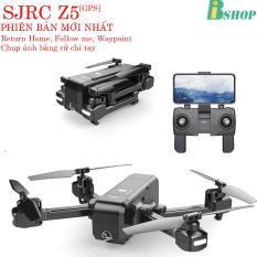 Máy bay SJRC Z5 GPS, Camera 1080P/25fps, xoay góc 90 °, Follow Me, chụp ảnh bằng cử chỉ, gấp nhỏ gọn,bay 600m ( gấp nhỏ gọn hơn S70W, Bugs 2SE, Bugs 5W)