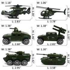 Bộ Mô hình 6 xe Quân sự giống xe thật theo tỉ lệ 1:87 – Món quà ý nghĩa cho các bé trai