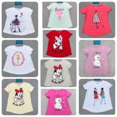 Sét 3 áo bé gái xuất dư in hình dễ thương 1-5 tuổi