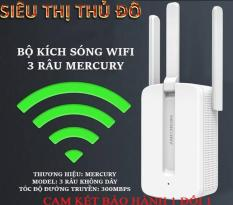 [ Xả Kho ] Bộ Kích Sóng Wifi 3 Râu Mercury (Wireless 300Mbps) Cực Mạnh