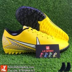 Giày đá bóng cỏ nhân tạo Mercuri Neymar vàng, giày đã khâu mũi, êm, nhẹ (Tặng kèm tất)