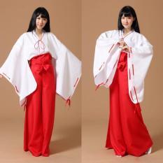 Trang phục cosplay Cát Cánh Kikyo phát sư màu đỏ Inuyasha