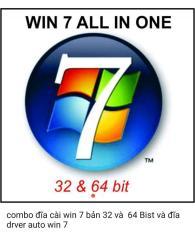 combo đĩa cài win 7 bản 32 và 64 Bist và đĩa drver auto win 7
