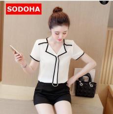 Áo Sơ Mi Nữ kiểu Hàn Siêu Hot SODOHA SMN 3331 Màu Trắng