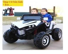 Xe ô tô điện trẻ em Siêu Địa Hình XJL-588 (tặng oto biến hình +free)
