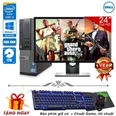 Combo máy tính để bàn Dell OptiPlex 790 SFF Core i5 2400, Ram 8GB, HDD 1TB + Màn hình Dell 24inch (Tặng phím giả cơ, chuột Game, lót chuột) – Hàng Nhập Khẩu