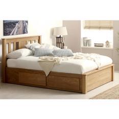 [Freeship] [Trả góp 0%] Giường ngăn kéo Wimblendon gỗ sồi IBIE phong cách hiện đại, kích thước tùy chọn. Gia công tỉ mỉ, chất lượng xuất khẩu. Bảo hành 24 tháng, miễn phí vận chuyển TPHCM