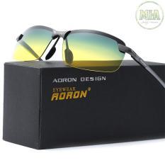 Kính mát phân cực nửa gọng thời trang cao cấp AORON GA3043