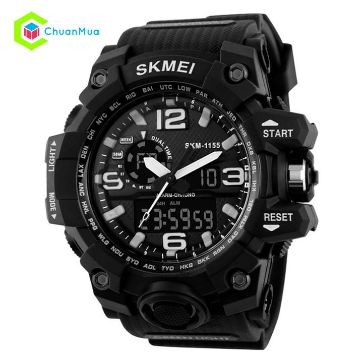 Đồng hồ Nam Skmei 1155 Dual Time Kim Điện Tử – Mã: DHA440