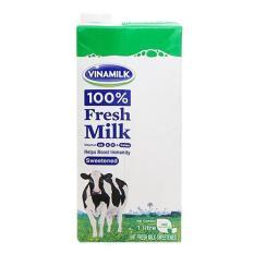 Sữa tươi tiệt trùng 100% Vinamilk có đường hộp 1 lít