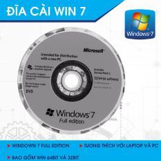 DVD Bộ Cài Đặt Hệ Điều Hành Window 7 32bit/64bit Full Editon 2018.