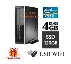 Cây máy tính để bàn HP 6200 Pro Sff (CPU i5 2400, Ram 4GB, SSD 120GB, DVD) + Tặng USB Wifi – Hàng Nhập Khẩu