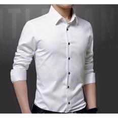 Áo sơmi nam vải lụa nến Thái (màu trắng) chống nhăn