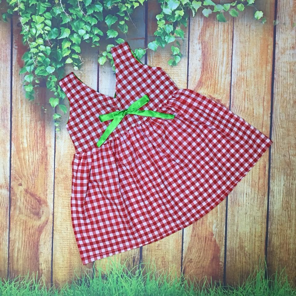 Đầm chéo dây cho bé gái