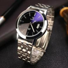 Đồng hồ nam dây inox Yazole DH21 (Mặt đen)