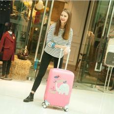 Túi Bọc Bảo Vệ Vali Size 20 – 23 Inches Thun 3D Co Giãn ( Voi Hồng )