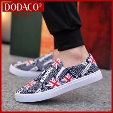 Male canvas shoes fashion lazy DODACO LVS0007 (Black Gray Red Gold)