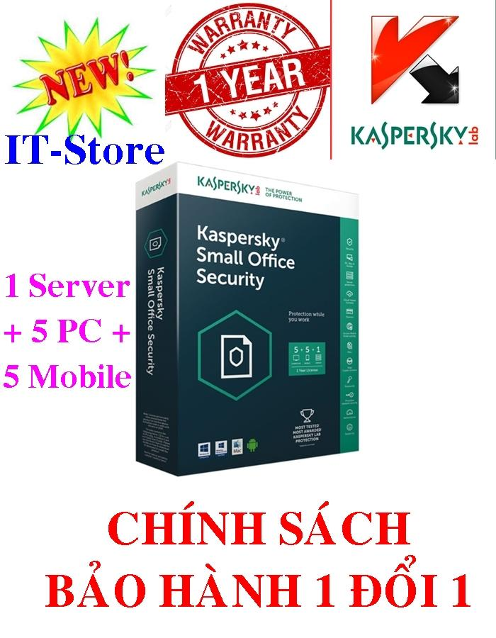 Phần mềm Kaspersky Small Office Security KSOS 1 File Server + 5 PCs + 5 Mobile