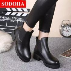 Giày Boot Nữ Kiểu Hàn Quốc Sodoha SD59V668B Black