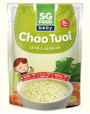 Cháo tươi Sài Gòn Food Baby vị cá hồi, cải bó xôi (trên 10 tháng)