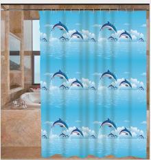 Màn treo nhà tắm Cá Heo size lớn 1.8m x 1.8m