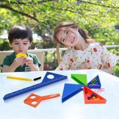 Bộ đồ dùng học tập xếp khối vuông đẹp mắt cho trẻ