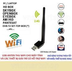 Bộ thu sóng wifi cho máy tính và laptop tốc độ cao có ăng ten 802.II (Đen)