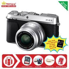 Fujifilm X-E3 Kit XF 23mm F/2.0 R WR (Bạc) + Tặng kèm thẻ nhớ Sandisk 16gb 48mb/s + Túi máy PTK MR + Da Cừu + BVS + Sách cẩm nang sử dụng máy ảnh Fujifilm – Hàng Nhập Khẩu
