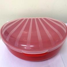 Set 2 hộp đựng thực phẩm hình vỏ sò + nhựa + trắng đỏ