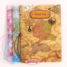 Vỏ hộ chiếu Pasport worldtrip 3D