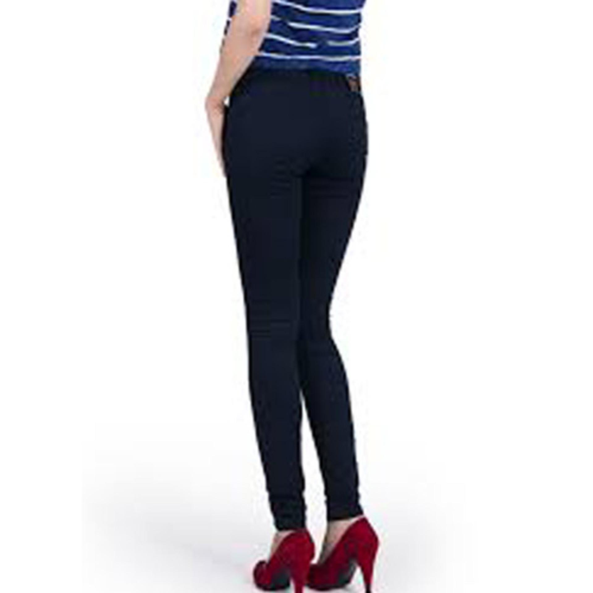 Quần Kaki Nữ Skinny Thời Trang-Xanh đen kk02