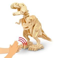 Mô hình Cơ động học Robotic Dinosaurs – Sound Control Biting T-Rex D220 – Đồ chơi Khoa học Robotime Khủng Long Mô hình chuyển động Mô hình gỗ Đồ chơi xếp hình Đồ chơi Âm thanh