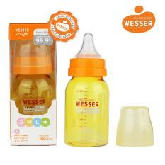 Bình sữa Wesser Nano Silver cổ hẹp 140ml ( Màu vàng)